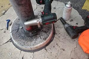 Gewindeschneiden mit Akkubohrmaschine